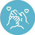 Icon of holding hands representing your family