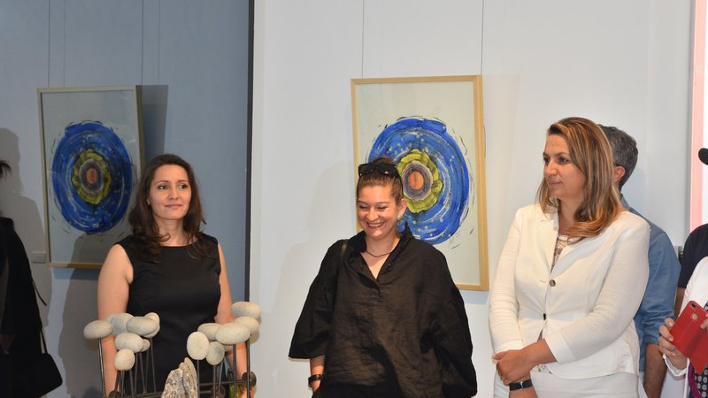 Sandra Stoycheva and Magdalena Nikolova presented the exhibition Balance Point at UniCredit Studio